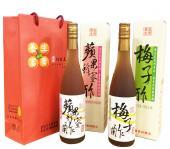養生富貴-實果釀造醋雙入禮盒600ML*2(梅子+蜂蘋各1)