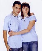 抗菌吸濕排汗短袖POLO衫-水藍色(中性版)