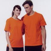 短袖圓領棉質T恤-橘色