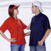 三磚排汗短袖POLO衫-紅色