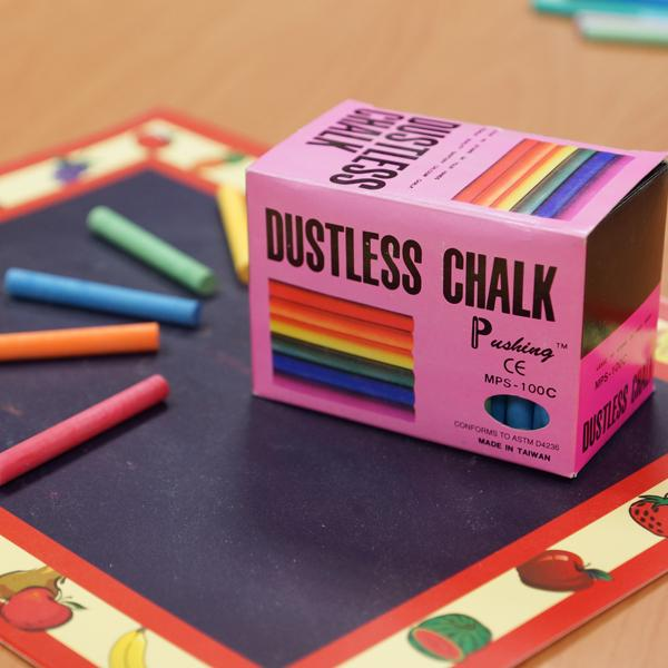 MPS-100C 硫酸鈣彩色粉筆 (100入裝) - Calcium Sulfate Dustless Chalks (colored 100pcs pack)