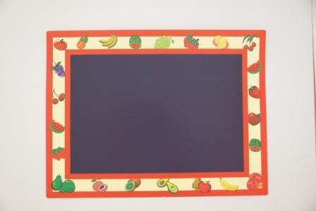 MHPC-BB004  Blackboard / Placemat  黑板塗鴉版 (A4) 小黑板 可水洗,可當餐墊使用