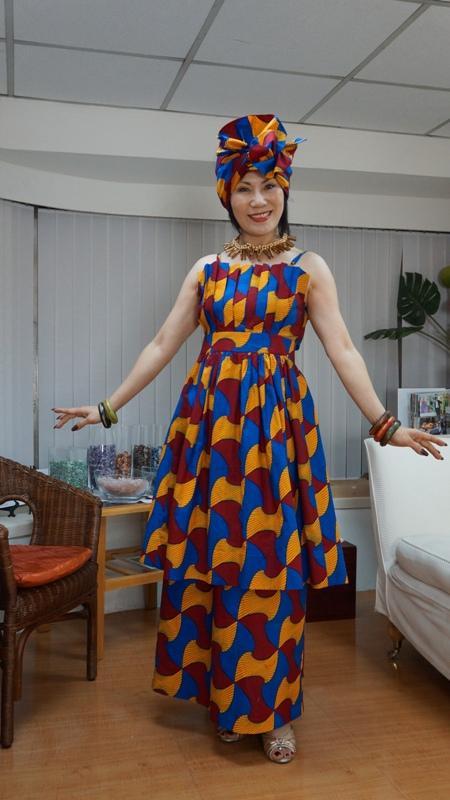 DR0001 非洲時尚設計服 African Dresses 扶輪永福-周社長