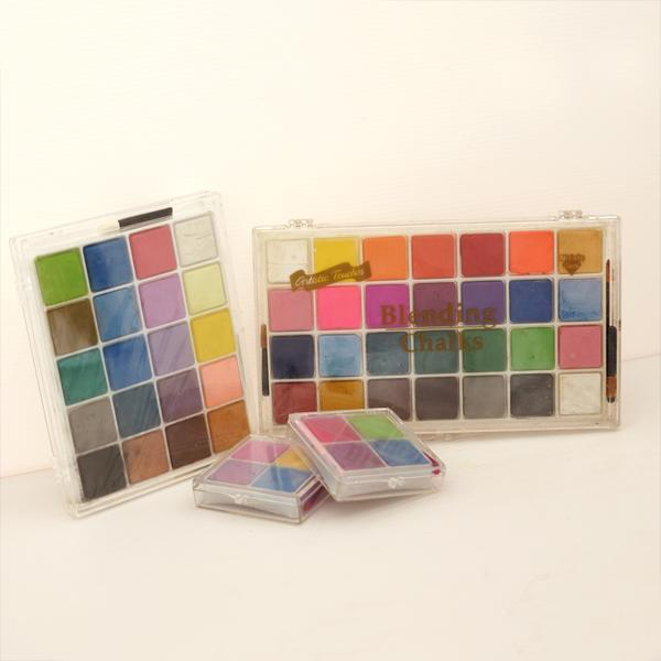 BC-4CA, BC-20CA, BC-28C 軟式粉彩餅 (客製化包裝) (4, 20, 24入塑膠盒裝) - Soft Chalk Pastels (customized 4, 20, 24 shades plastic case pack)