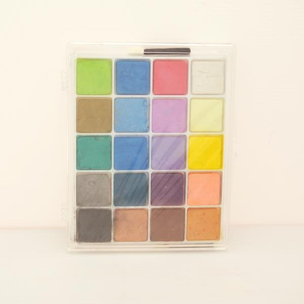 BC-20CA 軟式粉彩餅 (客製化包裝) (20入塑膠盒裝) - Soft Chalk Pastels (customized 20 shades plastic case pack)