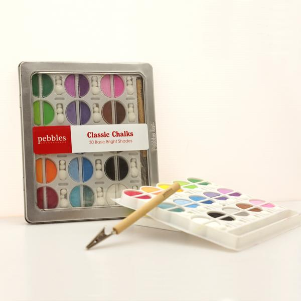 BC-30CA 軟式粉彩餅 (客製化包裝) (30入鐵盒裝) - Soft Chalk Pastels (customized 30 shades steel case pack)