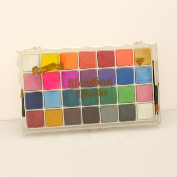 BC-28CA 軟式粉彩餅 (客製化包裝) (28入塑膠盒裝) - Soft Chalk Pastels (customized 28 shades plastic case pack)