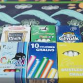 CHC-10C  碳酸鈣彩色粉筆 (10入裝)  - Calcium Carbonate Non-Toxic Chalks (colored 10pcs pack)