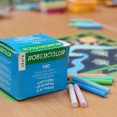 CC-100C  硫酸鈣彩色粉筆 (100入裝)  - Calcium Sulfate Dustless Chalks (colored 100pcs pack)