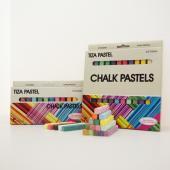SPS-12C, SPS-24C 長條形四角粉彩筆(新包裝) (12, 24入)  - Stick Chalk Pastels (12, 24pcs pack)