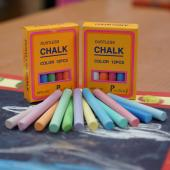 MPS-12C  硫酸鈣彩色粉筆 (12入裝)  -  Calcium Sulfate Dustless Chalks (colored 12pcs pack)