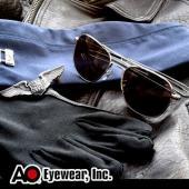 【USA美國】原廠公司貨 AO軍規飛官太陽眼鏡亮銀框(55mm) OP55S.BA.TC