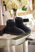 DE75A-韓國OLLIE雪靴-灰黑M(筒高13跟厚2)(現貨)