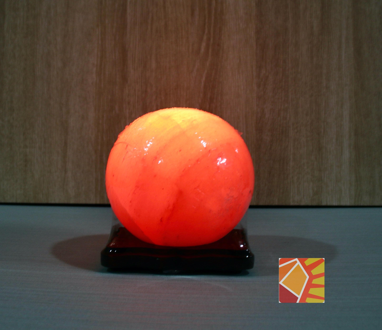 <有球必應> 玫瑰圓球6吋造型鹽燈