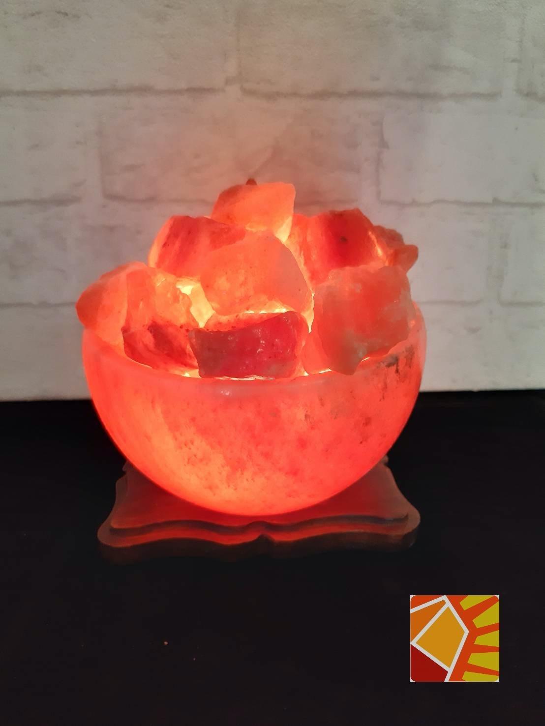 玫瑰聚寶盆 6吋造型鹽燈