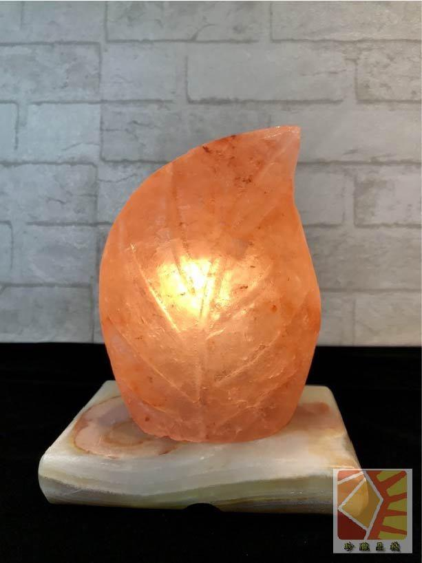 葉子造型鹽燈