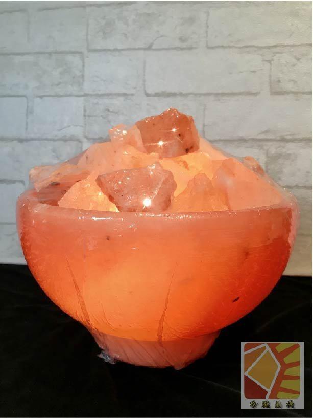 玫瑰聚寶盆10吋造型鹽燈