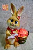 雙喜橘黃兔兔--紅領巾水桶造型