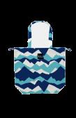 日本KIU 47066 富士山嵐 防水防雨 空氣感豆干包/包包雨衣 購物玩沙戲水必備