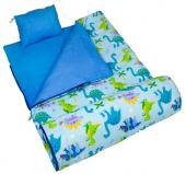 符合 CPSIA 標準 美國 Wildkin 17408 恐龍樂園 拉鍊睡袋/兒童睡袋 (5-15歲)