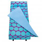 無毒幼教睡袋 符合美國標準 Wildkin 28119 藍紫圓點 兒童/安親班(3-7歲)