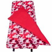 無毒幼教睡袋 符合美國標準 Wildkin 28601 粉紅迷彩 午覺毯/兒童睡袋(3-7歲)