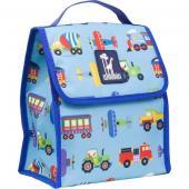 [BBB]符合CPSIA美國 Wildkin 55079 交通工具大集合 直立式午餐袋/便當袋/保溫袋(3歲以上)