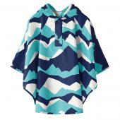 日本KIU 30066S 富士山嵐 空氣感兒童雨衣/披風式/寶寶雨披/防水披肩/斗篷 附收納袋(80cm+)