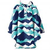 日本KIU 30066M 富士山嵐 空氣感兒童雨衣/披風式/寶寶雨披/防水披肩/斗篷 附收納袋(100cm+)