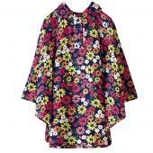日本KIU 30080M 波希米亞花園 空氣感兒童雨衣/披風式/寶寶雨披/防水披肩/斗篷 附收納袋(100cm+)