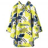 日本KIU 30053M 搖滾雲朵 空氣感兒童雨衣/披風式/寶寶雨披/防水披肩/斗篷 附收納袋(100cm+)