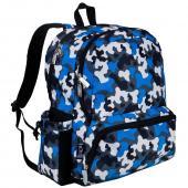 符合美國 CPSIA 美國 Wildkin 79213 藍迷彩 大容量後背包/書包/雙肩包