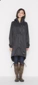 日本KIU 28900 黑色 空氣感雨衣/時尚防水風衣 附收納袋(男女適用)