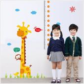 JB Design時尚壁貼~Q版卡通長頸鹿身高貼