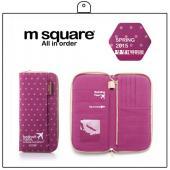M Square 拉鍊護照夾-點點
