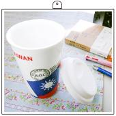 JB Design愛台灣系列_台灣 國旗 雙層陶瓷杯