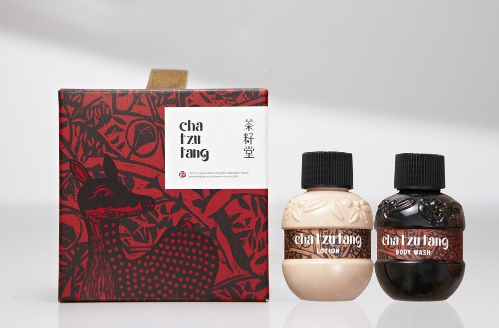 小鹿版畫緞帶盒雙入+青蜜沐浴青蜜乳液