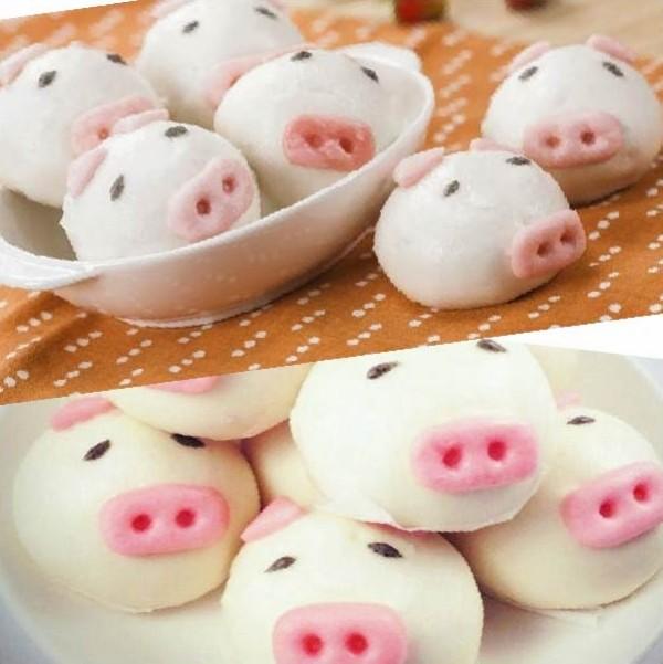 《御欣坊人氣美食》粉紅小豬甜甜包(香甜芋泥)(純素)(10粒/包)   特價再享買十包送一包(可與黃色小鴨包,番茄紅豆包合並計算)