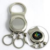 【客製化】A90-51100-023 金屬多環長鍊鑰匙圈