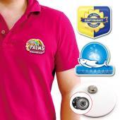 【客製化】A90-3150-068 客製化壓克力胸章 (附磁性鈕扣) 3.5x2cm