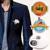 【客製化】 A90-3150-065  客製化壓克力胸章 (附磁性鈕扣) 5 x 2 cm