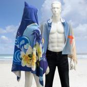 【客製化】A90-100-074 昇華熱轉印連帽披肩毛巾 (成人尺寸)