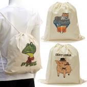 [客製化] 純棉束口後背包 棉布袋 (LOGO全彩數位印刷) 100個含印刷含版費 S1-01022A-100