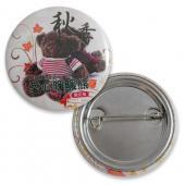 【客製化】A90-1130-047 38mm 數位印刷鈕扣胸章(馬口鐵) + 安全別針