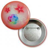 【客製化】A90-1130-046 56mm 數位印刷馬口鐵鈕扣胸章+安全別針